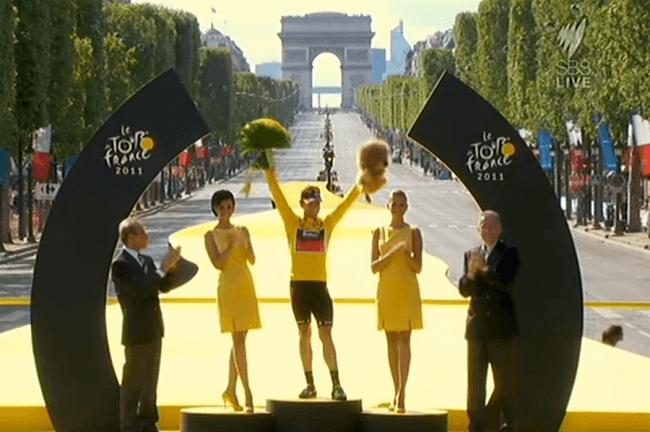 Cadel Evans vainqueur du Tour de France 2011